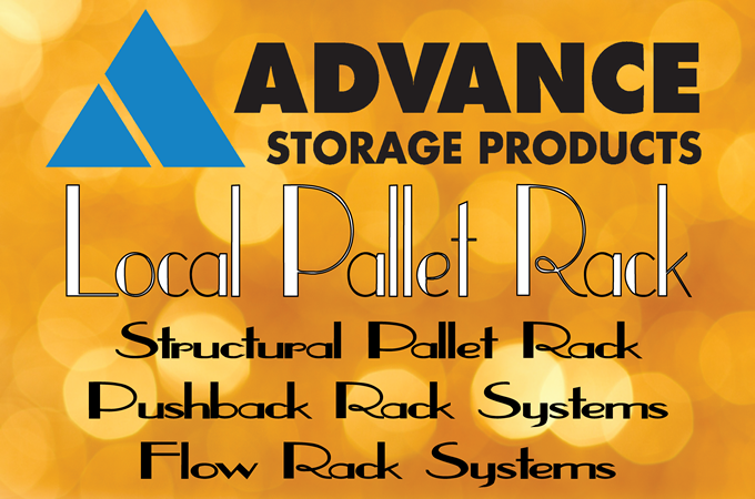 Advance Storage Products Pushback Rack System 6 Deep Lo-Pro Pushback Utah