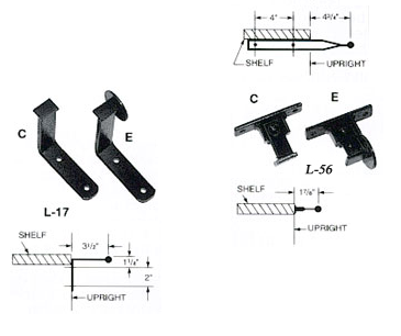 Cotterman Ladders Brackets, Fixtures, Mounting, Upright, Track