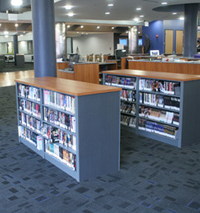 Metal Library Shelving Specifications for Utah